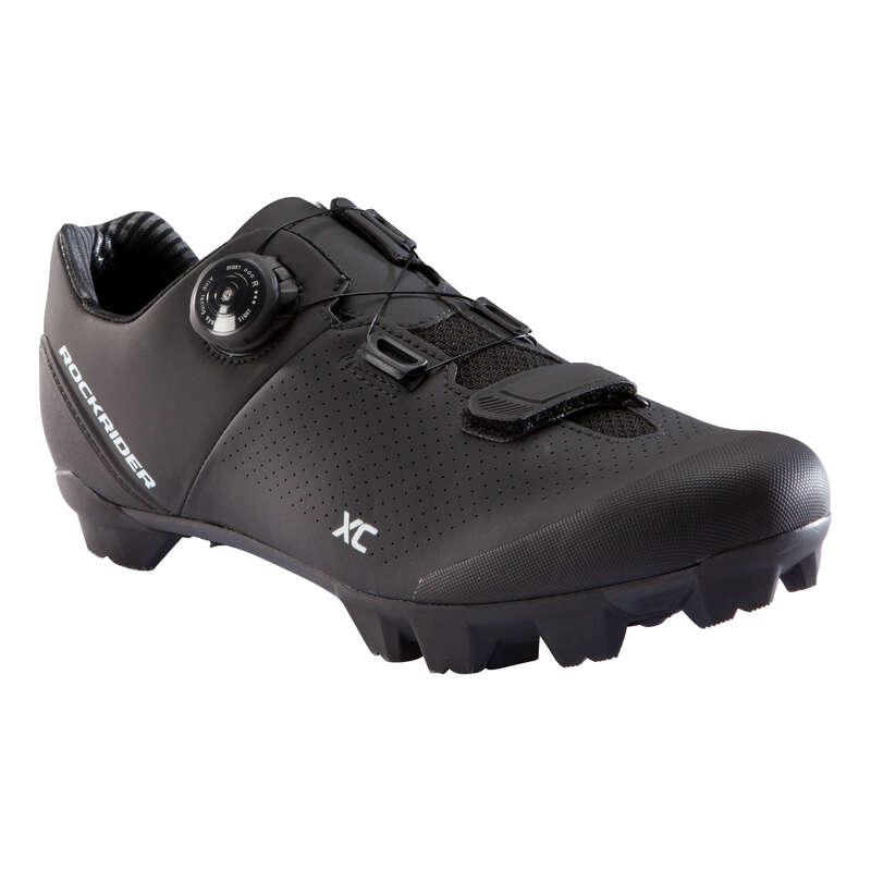 OBUV NA HORSKÉ KOLO XC/AM Cyklistika - CYKLISTICKÉ TRETRY MTB XC 500  ROCKRIDER - Helmy, oblečení, obuv