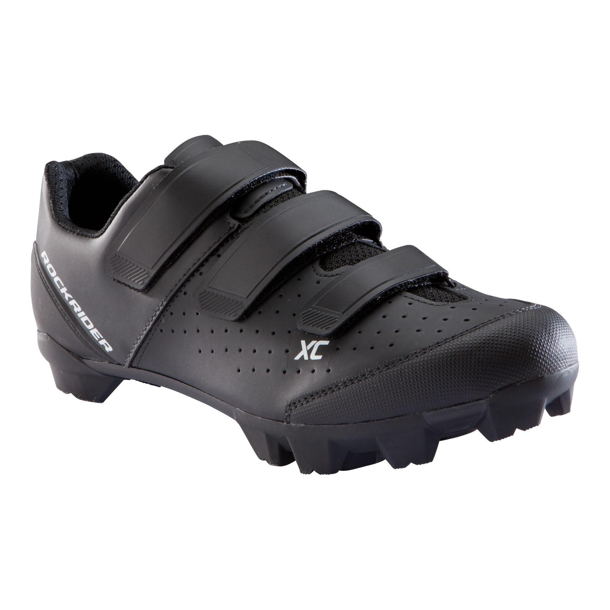 Fahrradschuhe Mountainbike XC 100 schwarz | Schuhe > Sportschuhe > Fahrradschuhe | Schwarz | Rockrider