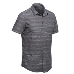 Chemise manches courtes TRAVEL100 fresh homme rayée gris