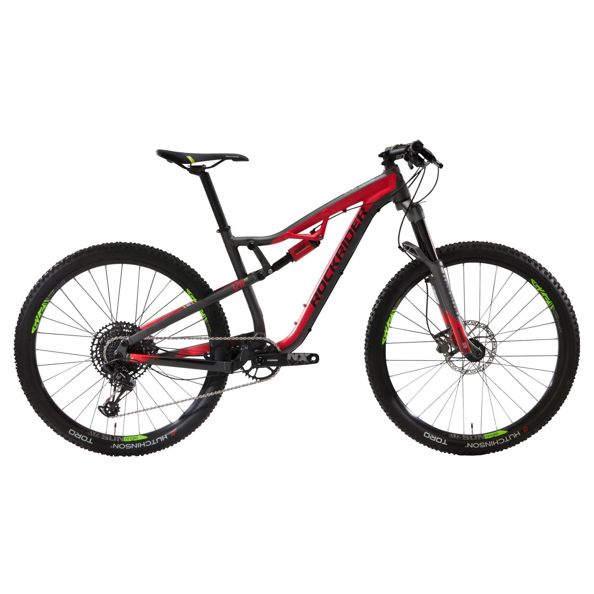 Rockrider MTB XC 100 27.5″ mountainbike 12 speed zwart/rood