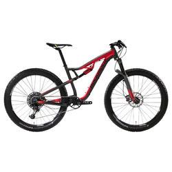 Bicicleta de Montaña XC 100 S 27,5 PLUS 12s negro y rojo