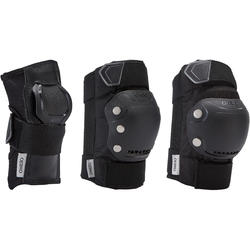 Set 3 protecciones roller adulto FIT500 negro gris