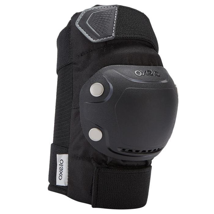 Protektoren Schoner Schützer 3er-Set Inliner FIT500 Erwachsene schwarz/grau