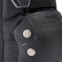 Set 3 protecciones patines adulto FIT500 negro gris
