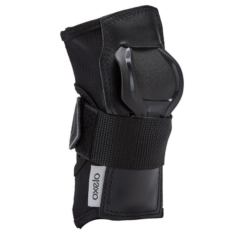 ชุดอุปกรณ์ป้องกันอินไลน์สเก็ตสำหรับผู้ใหญ่แบบ 3 ชิ้นรุ่น Fit500 (สีดำ/เทา)