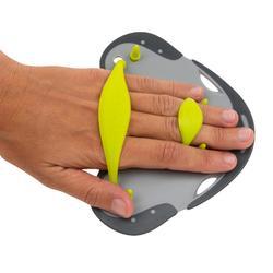 Palas Natación Speedo Gris Oscuro/Verde Fluorescente Para Dedos