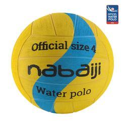 Balón Waterpolo 500 New Amarillo Azul Tamaño 4