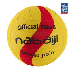 Balón Waterpolo 500 New Amarillo Rojo Tamaño 5