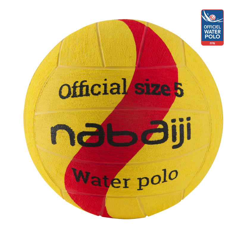 YELLOW RED NEW 500 WATER POLO BALL SIZE 5