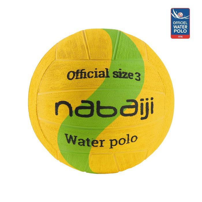 Wasserball Water Polo 500 Gr.3 gelb/grün