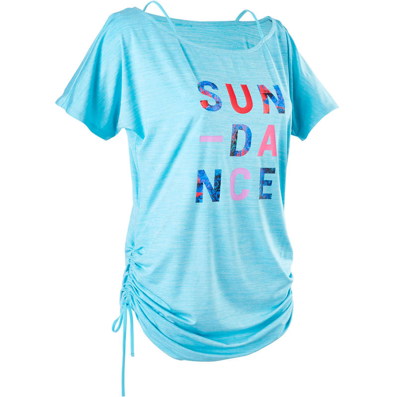 FITNESS DANCE WOMEN APPAREL Street Dance and Urban Dance - Women's Fitness Dance T-shirt DOMYOS - Sports