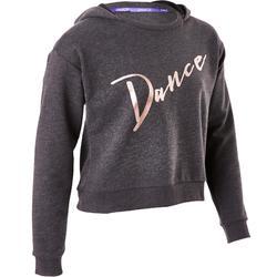 Dans hoodie voor meisjes grijs