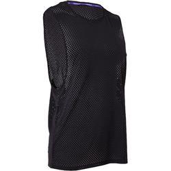 Uiterst ademend mouwloos shirt voor dames streetdance zwart