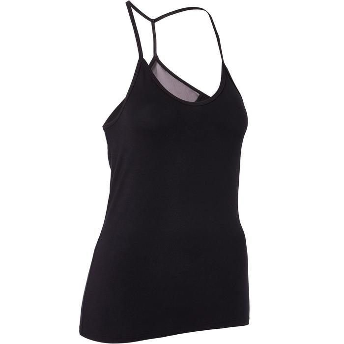 Women's Floaty Modern Dance Tank Top - Black