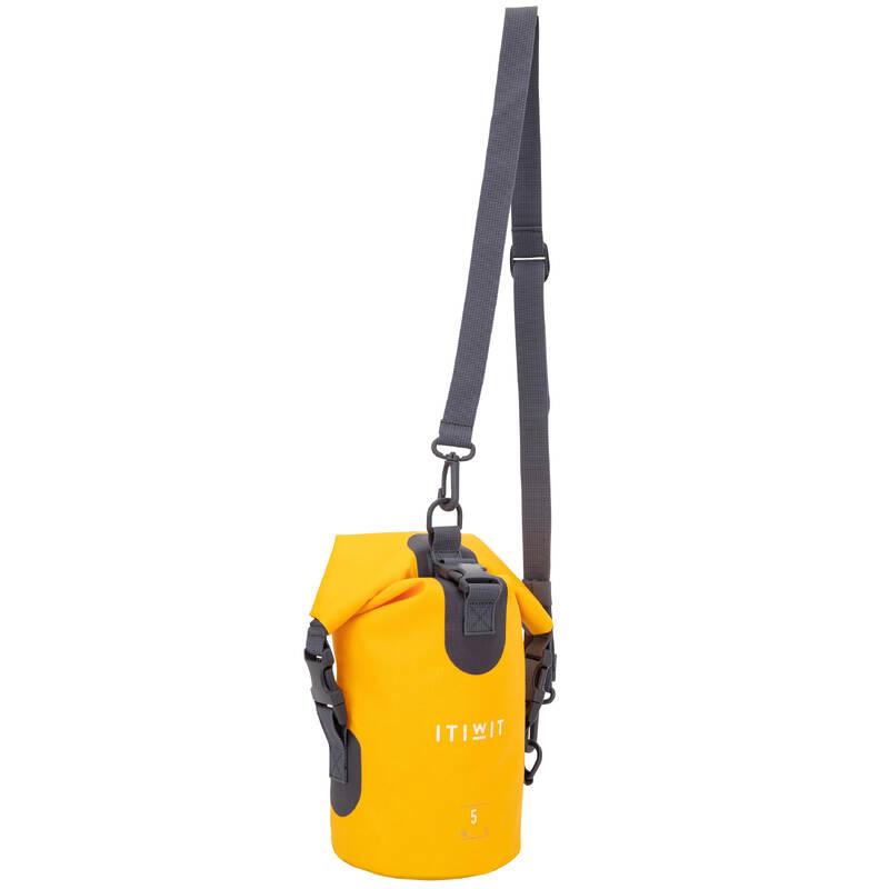 VODOTĚSNÉ TAŠKY A VAKY Vodáctví - Vodotěsný vak 5 l žlutý  ITIWIT - Vybavení na vodu