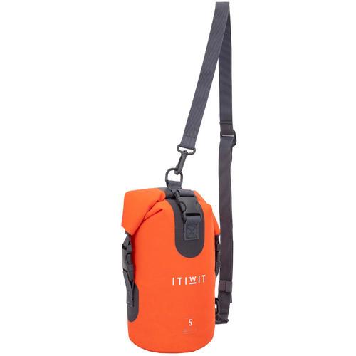 Sac étanche kayak, paddle, canoe polochon 5L orange