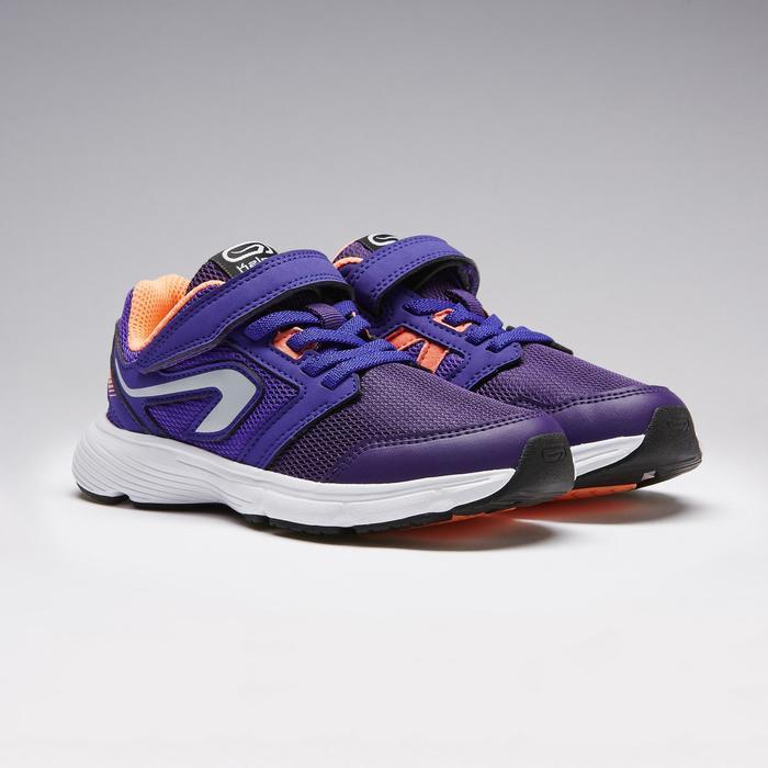 Zapatillas Atletismo Running Kalenji Run Support Niños Violeta/Naranja