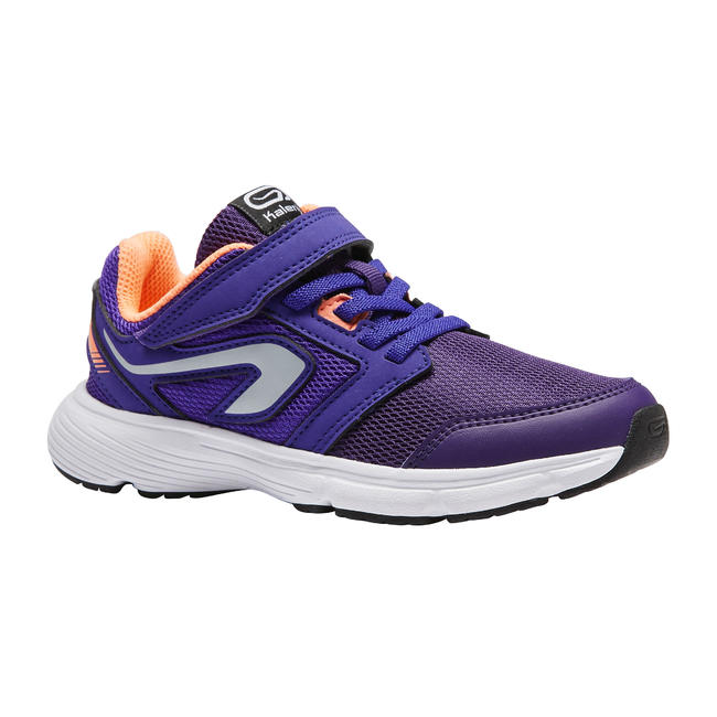 KID'S RUNNING SHOES - RUN SUPPORT PURPLE CORAL