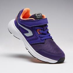 Laufschuhe Run Support Kinder Klettverschluss violett/koralle