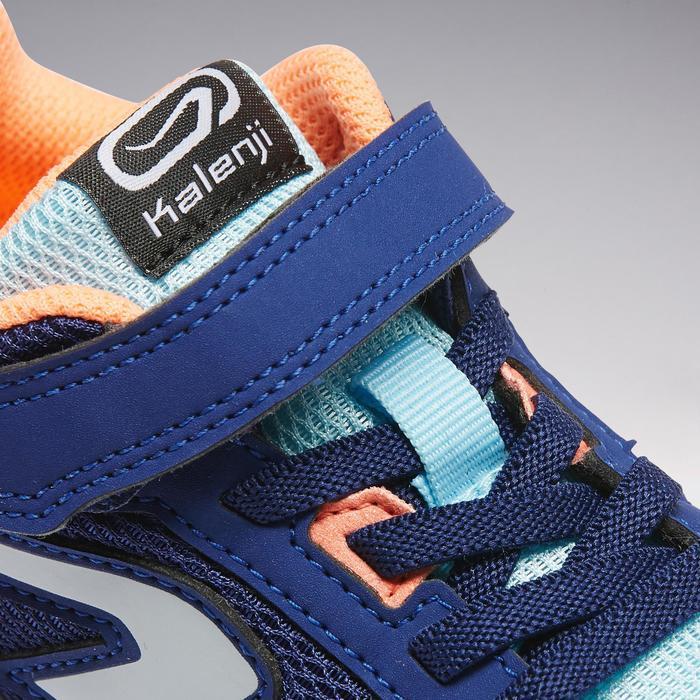 Atletiekschoenen voor kinderen Run Support klittenband blauw/koraalrood
