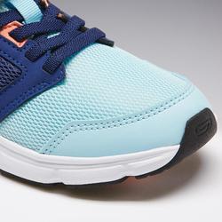 Laufschuhe Run Support Kinder Klettverschluss blau/koralle