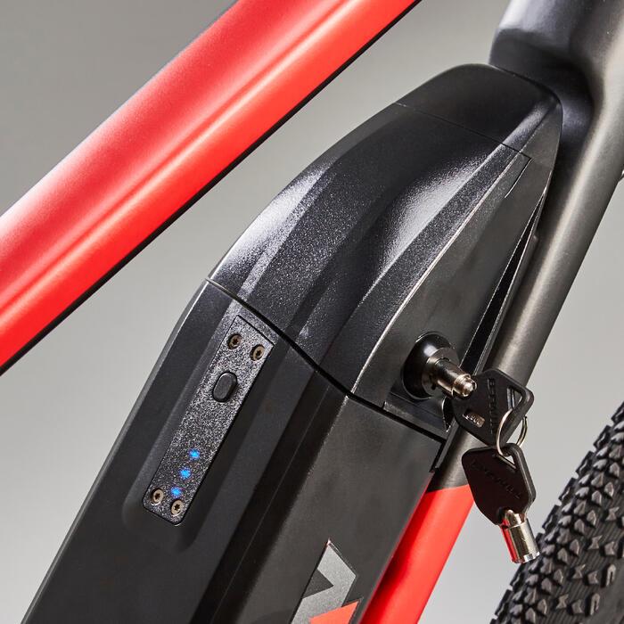 Elektrische hybridefiets Riverside 500E grijs/rood
