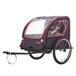Kinder-Fahrradanhänger 100 Stahlgestell indigoblau