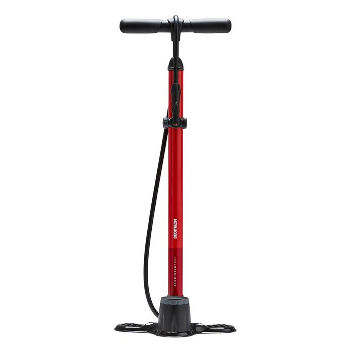 Bomba Pie Ciclismo Btwin 900 Rojo Con Manómetro