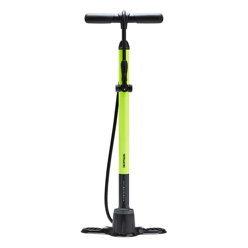Pompe biciclete Ciclism - Pompă de Picior 900 Galben  BTWIN - Accesorii ciclism