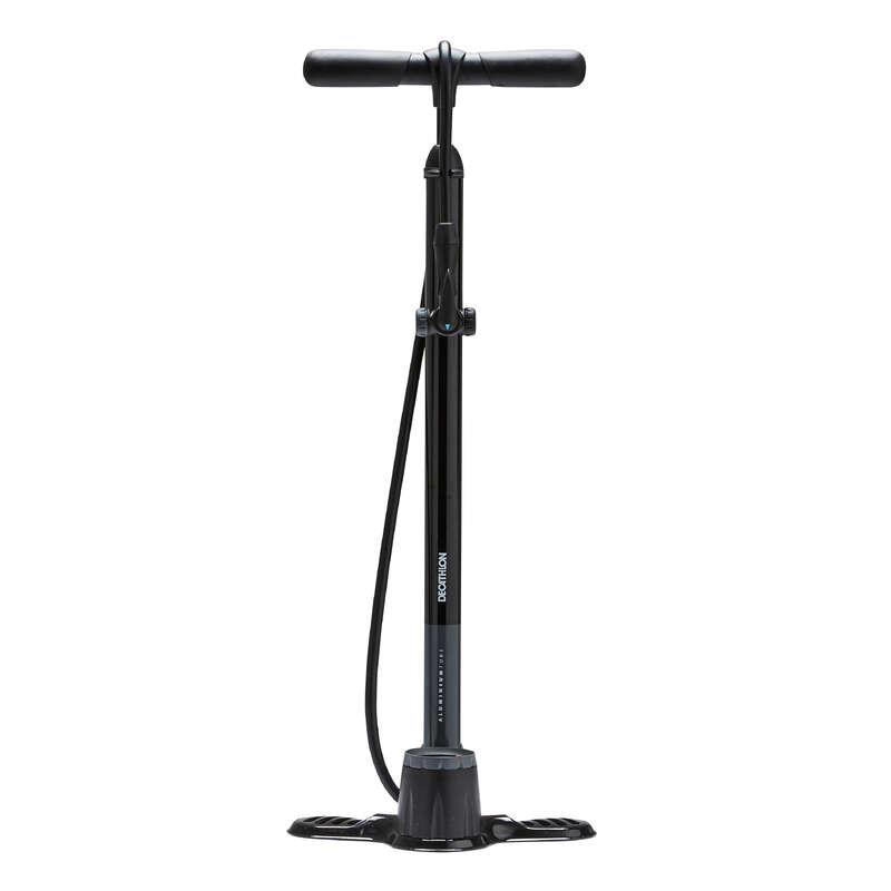 BIKE PUMPS Cycling - 900 Floor Pump - Black BTWIN - Bike Maintenance