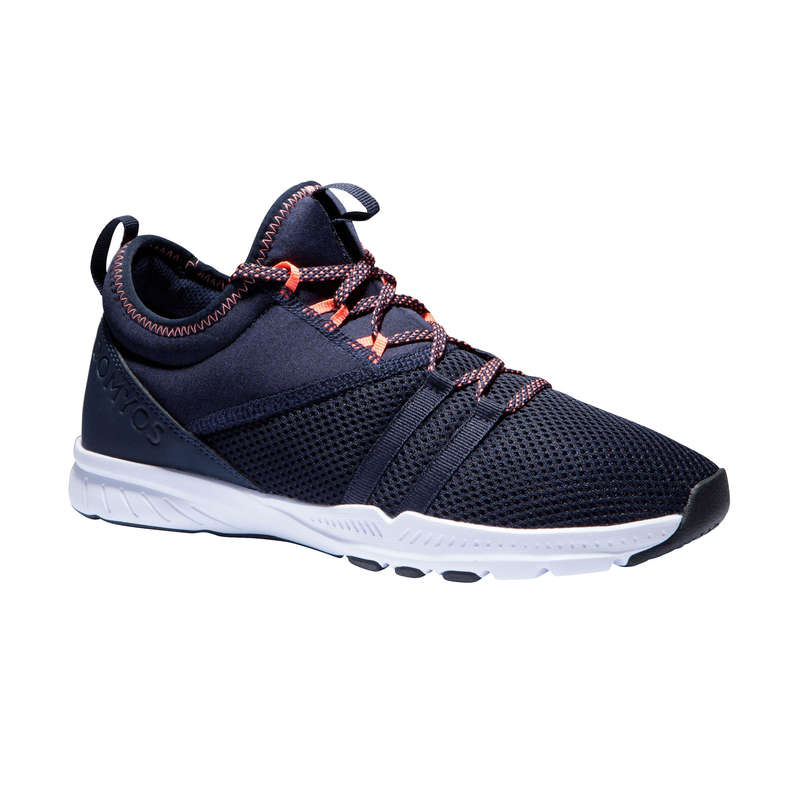 FITNESS SHOES Fitness and Gym - MID 120 Women's Shoes - Blue DOMYOS - Gym Activewear