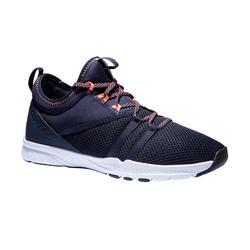 Zapatillas fitness cardio-training 120 mid mujer azul