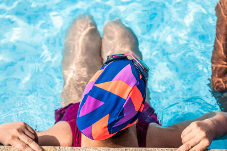 swimming mesh cap