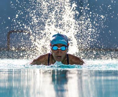 Breathing technique for breaststroke