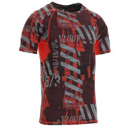 500 Cross Training Compression T-Shirt - Vermilion Red