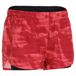 女性交叉訓練運動短褲500 - 黑色