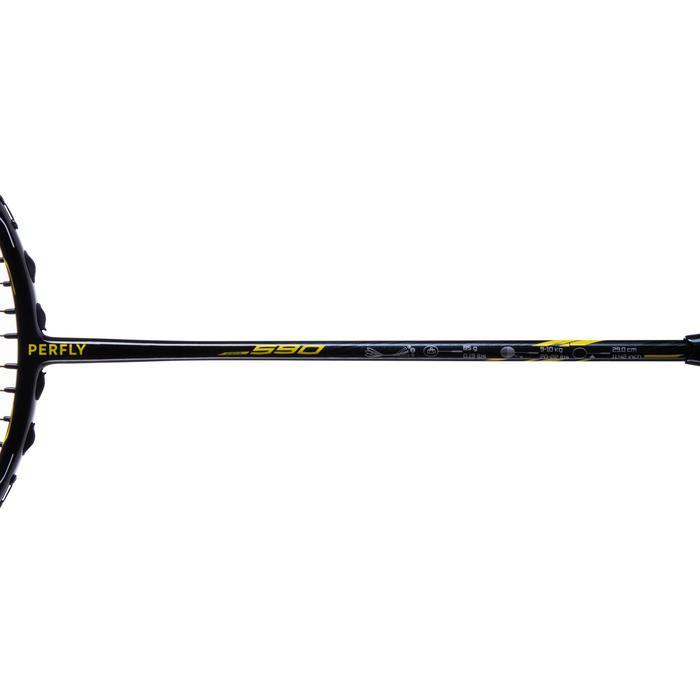 Raquette De Badminton Adulte BR 590 - Noir/Jaune