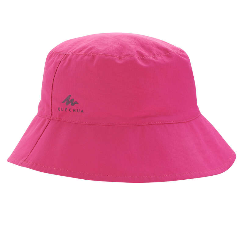 JUNIOR HIKING HATS&CAPS Hiking - KID SUN HAT MH - PINK QUECHUA - Hiking Clothes