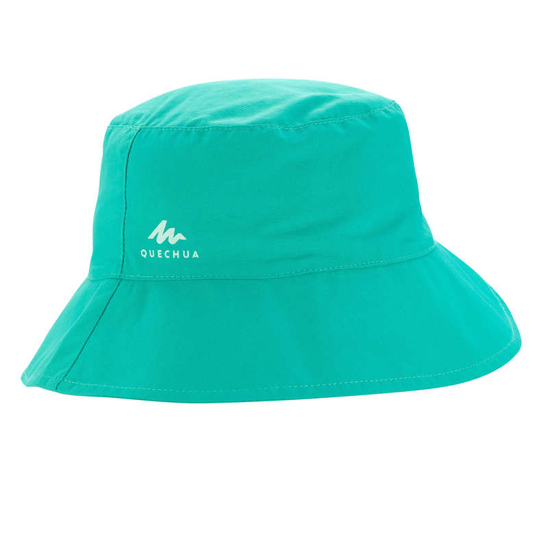 JUNIOR HIKING HATS&CAPS Hiking - MH KID SUN HAT - TURQUOISE QUECHUA - Hiking Clothes