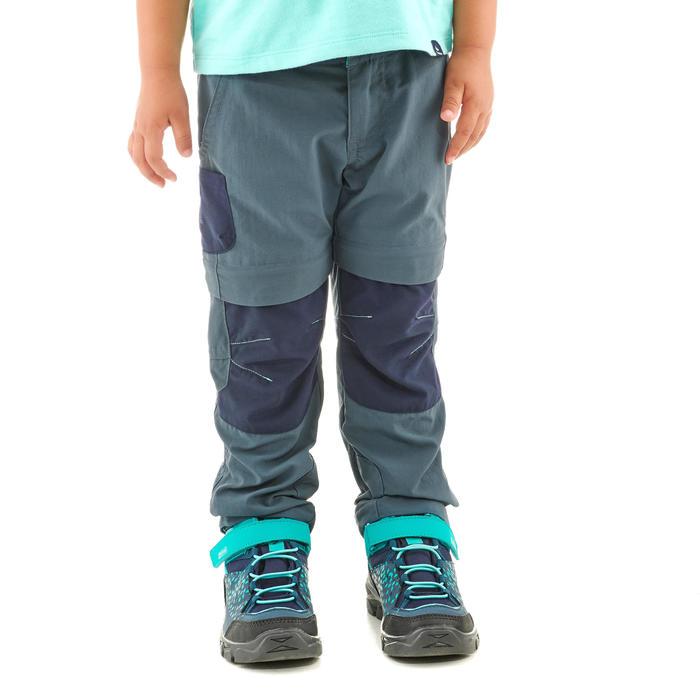 Pantalón desmontable de montaña niños 2-6 años MH550 gris azul