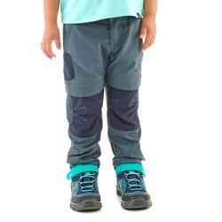 Wandelbroek voor kinderen MH500 grijs/blauw afritsbaar 2-6 jaar