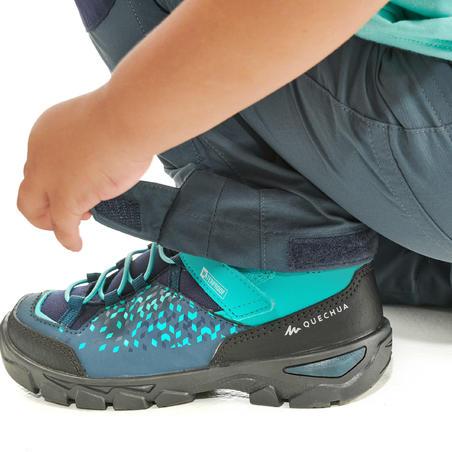 Modular hiking trousers - MH500 KID grey/blue - children 2-6 YEARS