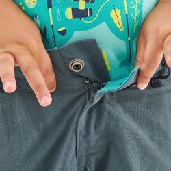 Pantalon de randonnée modulable - MH500 KID gris/bleu- enfant 2-6 ANS