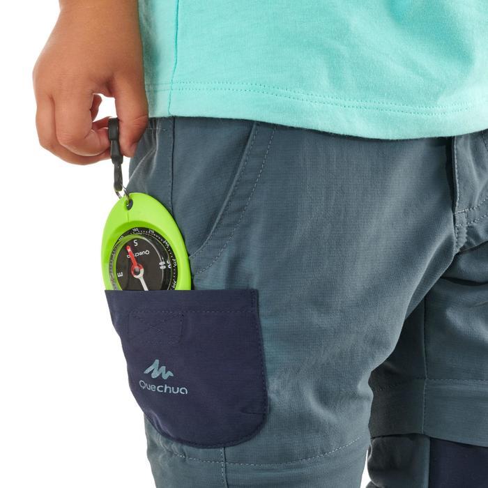 Pantalon de randonnée modulable enfant MH500 KID gris/bleu