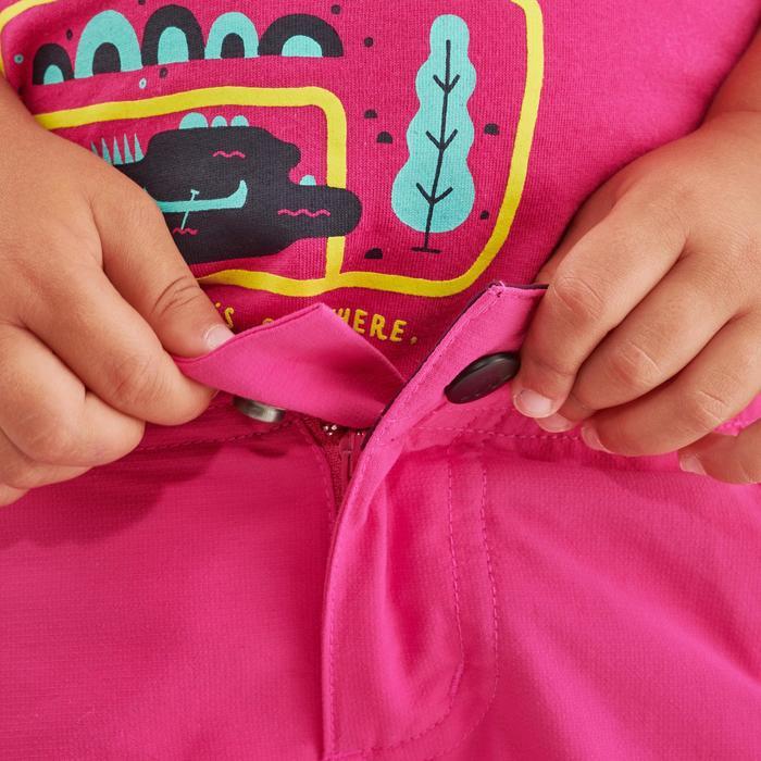 Pantalon de randonnée modulable enfant MH550 KID rose