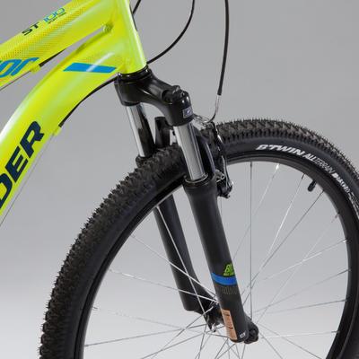 """Гірський велосипед Rockrider 100 27,5"""" - Жовтий"""