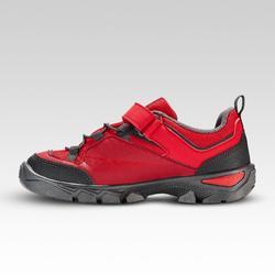 Zapatillas de montaña niños TALLAS 28 a 34 tira autoadherente MH120 rojo