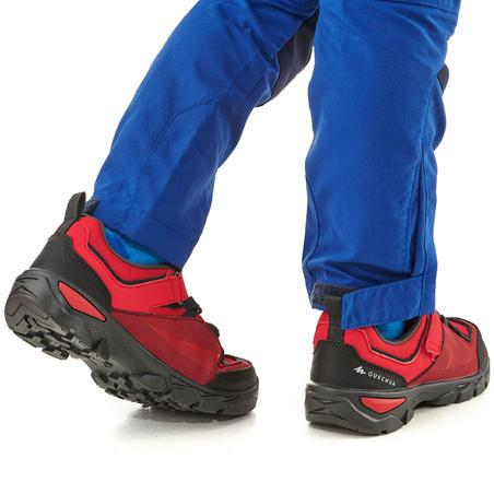 Chaussures de randonnée enfant avec scratch MH120 LOW rouges 28 AU 34
