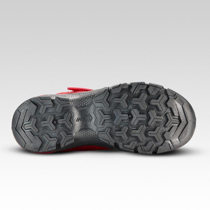Zapatillas de montaña niños tira autoadherente MH120 rojo TALLAS 28 al 34