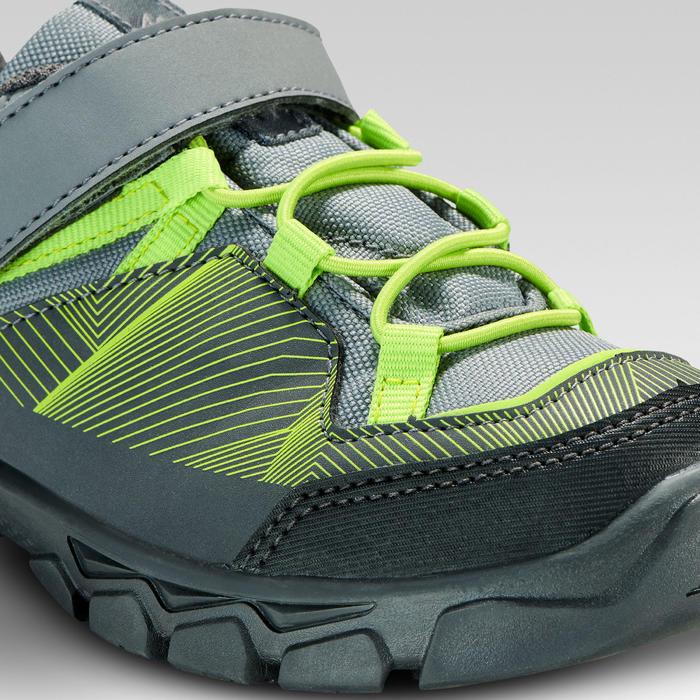 Zapatillas de montaña y niños MH120 LOW gris y verde TALLAS 28 AL 34